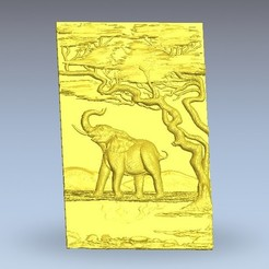 Télécharger plan imprimante 3D gatuit éléphant africain, 3Dprintablefile