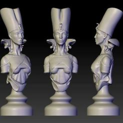 Download free STL file Princess of Egypt cnc art bust statut god, 3Dprintablefile