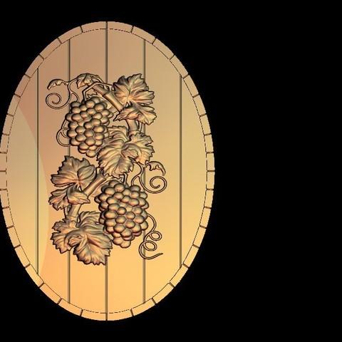 Free 3D printer files grape fruit wine decoration, 3Dprintablefile