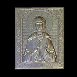 Imprimir en 3D gratis Jesús cruz retrato arte medieval, 3Dprintablefile
