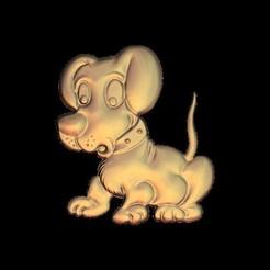Free STL cute little dog, 3Dprintablefile