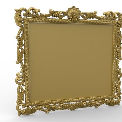 Télécharger plan imprimante 3D gatuit Cadre miroir art renaissance, 3Dprintablefile