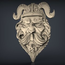 Télécharger fichier 3D gratuit viking warrior face bust cnc cnc art, 3Dprintablefile