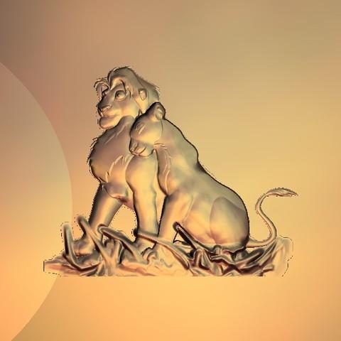 Télécharger fichier impression 3D gratuit simba lion king, 3Dprintablefile