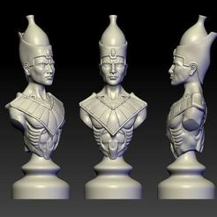 Download free STL file Priest of Egypt god art bust statue • 3D printer design, 3Dprintablefile