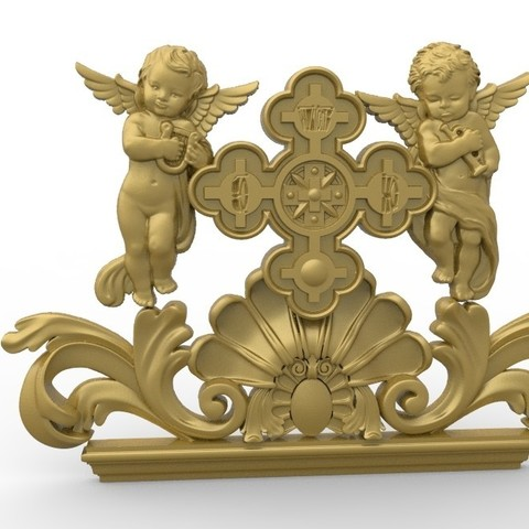 Download free 3D printer templates two musician angels, 3Dprintablefile