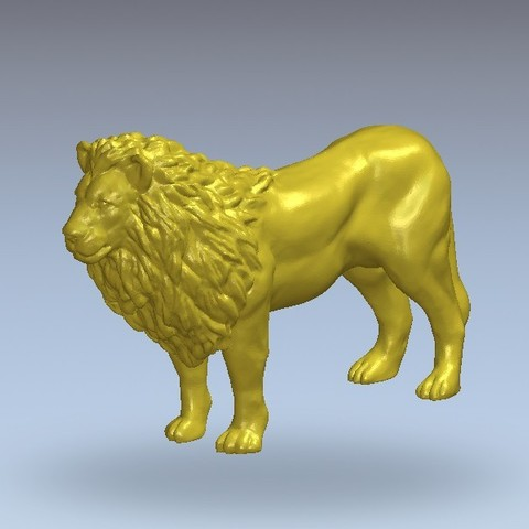 Free 3D printer model Lion, 3Dprintablefile