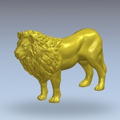 Download free 3D printing templates Lion, 3Dprintablefile