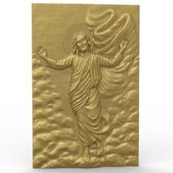 Descargar diseños 3D gratis Jesús religioso, 3Dprintablefile