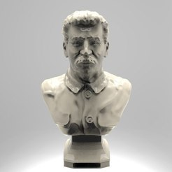 Download free 3D printing templates stalin bust russian soviet cccp urss 3D model free, 3Dprintablefile