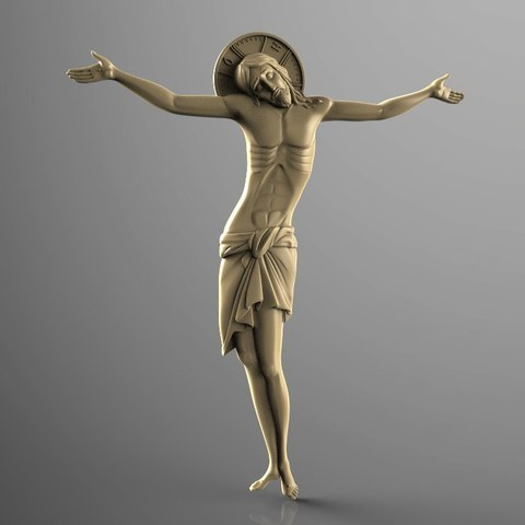 Download free STL files raxpyatie_vizantia christ cross jesus CNC, 3Dprintablefile