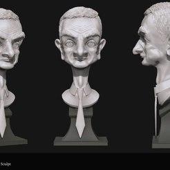Télécharger plan imprimante 3D gatuit Atkins buste art, 3Dprintablefile