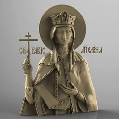 Download free 3D printer files Religious icon cnc art 3D model elena, 3Dprintablefile