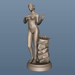 Descargar archivo 3D gratis busto de dama desnudo statut art, 3Dprintablefile