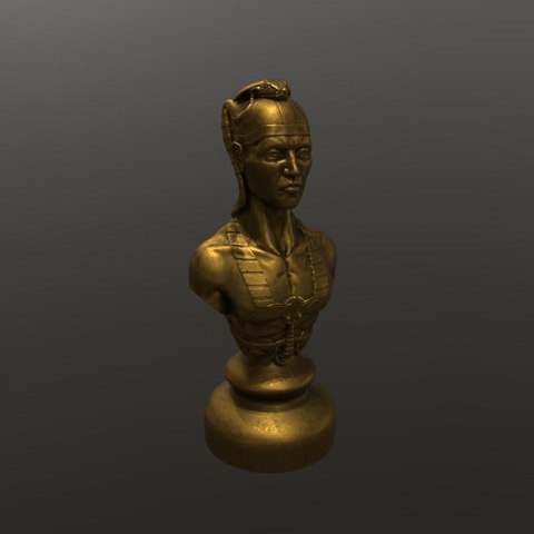 Download free 3D printing templates pawn warrior bust god, 3Dprintablefile