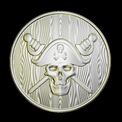 Descargar archivo 3D gratis muerte craneal pirata, 3Dprintablefile