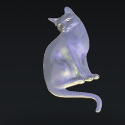 Free 3D model cat, 3Dprintablefile