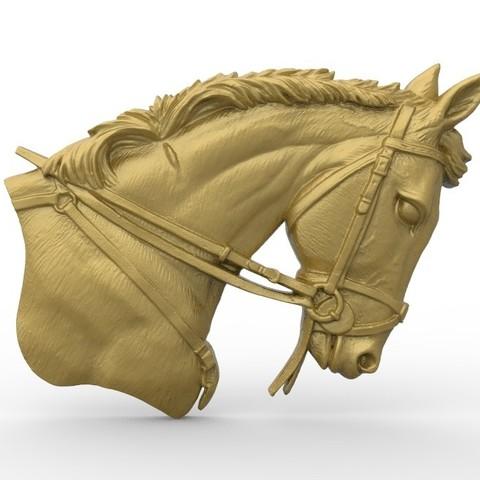 Download free STL Horse head bust , 3Dprintablefile