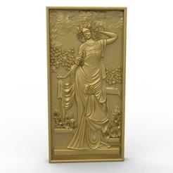 Télécharger fichier 3D gratuit Dame de la Renaissance dans un jardin, 3Dprintablefile