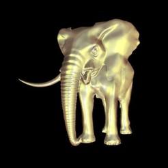 Free STL Elephant , 3Dprintablefile