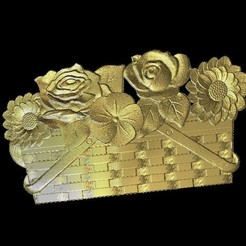Download free 3D printer model Flowers in a basket, 3Dprintablefile