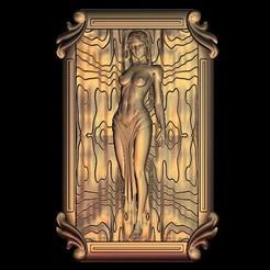 Free STL file naked woman, 3Dprintablefile