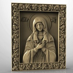 Umilenie.jpg Download free STL file Religious icon cnc art 3D model  • 3D printing design, 3Dprintablefile
