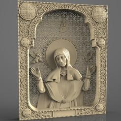 Download free 3D printer templates Religious frame cnc art router saint sofia, 3Dprintablefile
