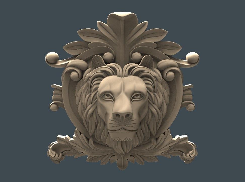 le_v.jpg Download free STL file Lion face cnc art • 3D printing template, 3Dprintablefile