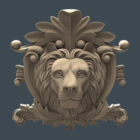 Télécharger plan imprimante 3D gatuit Lion face cnc art, 3Dprintablefile