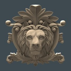 le_v.jpg Download free STL file Lion face cnc art • 3D printing template, 3Dprintablefile