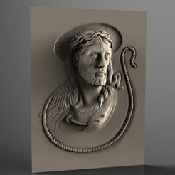 Descargar archivo 3D gratis Marco religioso cnc art router jesus cross, 3Dprintablefile