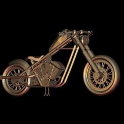 Download free STL file harley davidson motorcycle biker, 3Dprintablefile