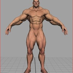 Descargar modelo 3D gratis musculoso, fuerte y desnudo, 3Dprintablefile