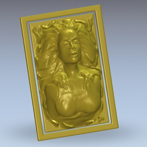 Download free 3D printing designs Lady face, 3Dprintablefile