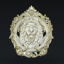 Télécharger fichier imprimante 3D gratuit rugissement du lion, 3Dprintablefile