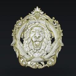 Free 3D printer files Lion roaring, 3Dprintablefile