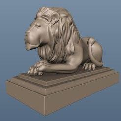 Download free STL file Lion bust art cnc statue, 3Dprintablefile