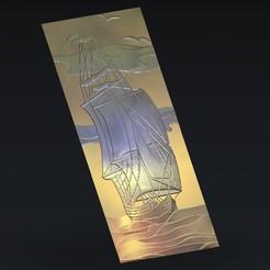 Free STL sailling boat, 3Dprintablefile