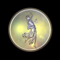 Free 3D printer model Decoration art renaissance justice lady symbol, 3Dprintablefile