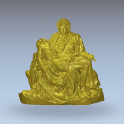 11.png Download free STL file Jesus body dead sculpture marry mother • Object to 3D print, 3Dprintablefile