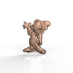 Download free 3D model white snow dwarf, 3Dprintablefile