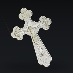 Download free STL file Jesus christ on the cross, 3Dprintablefile