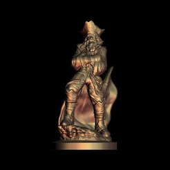 Fichier imprimante 3D gratuit Incroyable sculpture de buste de pirate, 3Dprintablefile