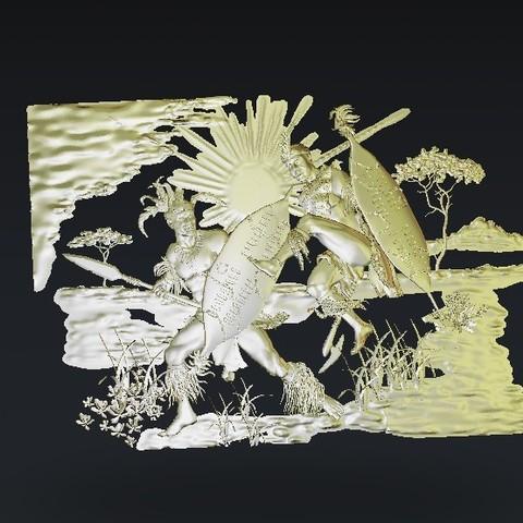 Télécharger STL gratuit Guerriers se battant, 3Dprintablefile