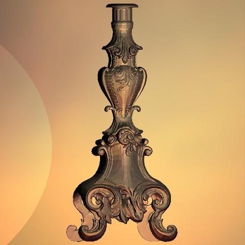 Download free 3D print files Candle holder vintage renaissance art, 3Dprintablefile