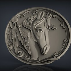 Free 3D printer files Horse head bust cnc art, 3Dprintablefile