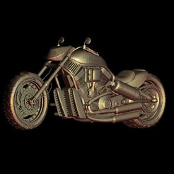Download free STL file harley davidson motorcycle biker, 3Dprintablefile