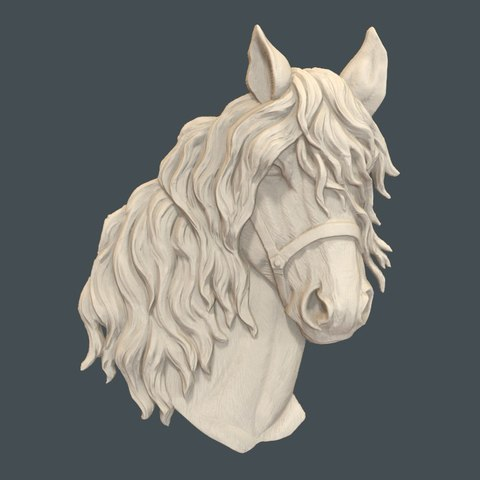 Download free STL Horse head bust cnc, 3Dprintablefile