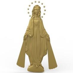 Free 3D printer files Virgin marry art religious, 3Dprintablefile